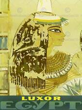Viaggi turismo Luxor Egitto vintage advertising poster muro Retrò Stampa 2423py