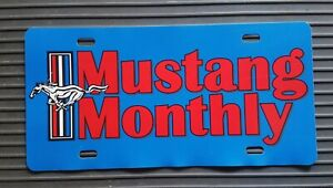 MUSTANG MONTHLY LICENSE PLATE TAG