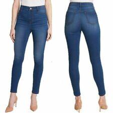 ISAAC MIZRAHI Sz XXL Women Jean Stretch High Rise Cozy Pull On Jeggings Blue NWT