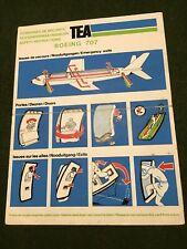 safety card tea b 707
