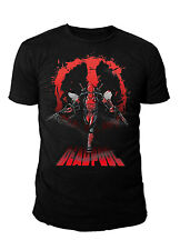 Marvel Comics - Dead Pool Herren T-Shirt - Dead Attack (Schwarz) (S-XL)