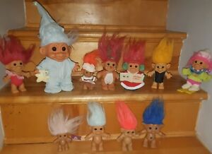 Huge Vintage Troll Doll Lot(67)**clothes** Pencil Toppers** Clingons**light Up