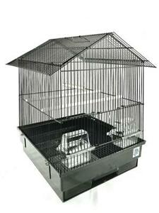 Ava Black Large Bird Cage For Budgies, Finches & Canaries 52 x 37 x 41 cm