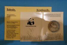 Bahrain, 5 Dinars, WWF, Kropfgazelle, 1986, Silber, original