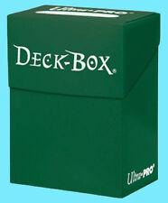 Ultra Pro DECK BOX GREEN Card Holder NEW Standard & Small Size Storage Case mtg