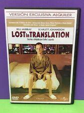 LOST IN TRANSLATION- BILL MURRAY- DVD- USADO GARANTIZADO