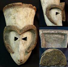 Art Africain Masque Zoomorphe ancien Bamana Mali 38 cm rare originalité déco