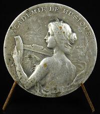 Médaille académie allégorie musique Ville de Calais music allegory c1920 medal
