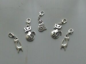 Set 5 Stitch Markers CATS Knitting,Crochet,Row Counters,Charms etc
