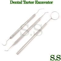 Dental Tarter Excavator Mirror Probe # 5 Dental Instruments Set, PR-005