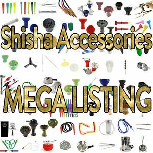 Mega Listing of SHISHA ACCESSORIES! Hookah Bowls Tongs Hoses Pipes Tips Pot Head