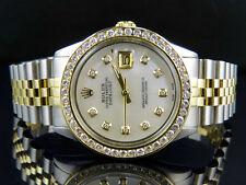 Mens Rolex Datejust 2 Tone 18k Gold 36MM Steel Jubilee Band Diamond Watch 4.25CT