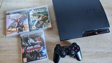 Playstation 3 Slim (250 GB) mit 3 Games (komplett)