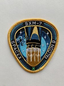 "Original SpaceX SXM-7 FALCON 9 Mission patch 3.5"" Mint Condition"
