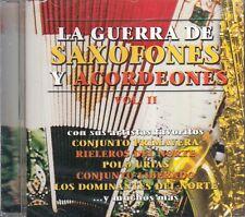 Conjunto Primavera Polo Urias La Guerra De Saxofones Y Acordeones Vol 2 CD New