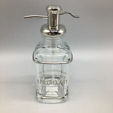 Bella Lux Dr Gnadendorff Liquid Soap Pump Dispenser Apothecary Glass Silver NEW