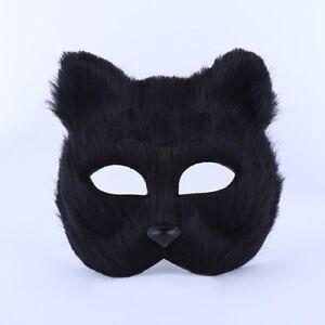 Halloween Animal Cosplay Fox Half face Mask Veil Masquerade Party Men's Women's