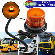 Car Auto 12V/60V Flashing Strobe Beacon Emergency LED Warning Light Lamp Amber