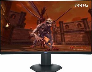 "Dell - S2721HGF  27"" 144Hz 4Ms Curved LED QHD G-SYNC Gaming Computer Monitor"