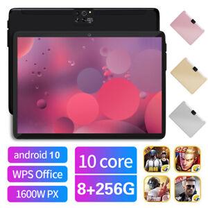 "10.1"" Tablet PC 8+256GB Android 10.0 HD WIFI GPS Dual SIM Camera G-sensor IPS UK"