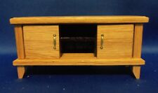 Dollhouse Miniature 1:12 Scale TV Stand (Oak and Exotic Wenge Wood)