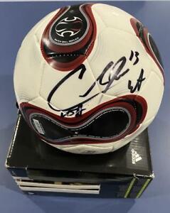 COBI JONES SIGNED AUTOGRAPH USA LA GALAXY LEGEND SOCCER BALL COA