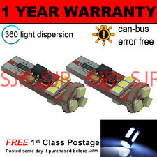 2X W5W T10 501 CANBUS ERROR FREE WHITE 9 SMD LED AMPOULE CLIGNOTANT LATÉRAL