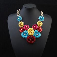 Women Fashion Vintage Luxury Long Statement Necklace Girls Flower Necklace