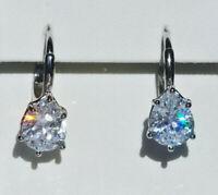 Echt 925 Sterling Silber Ohrringe mit Zirkonia Tropfen crystal Hochzeit Nr 101T