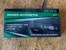 Rcbs Vernier Micrometer 87321 Free Shipping