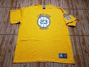 Vintage Nike Jordan Laney High School Shirt Adult 2XL Basketball Cotton 90s Mens