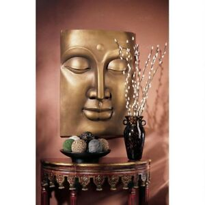 """28"""" Large Asian Sculptural Serene Peaceful Buddha Home or Gallery Wall Decor"""