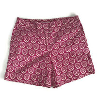 Ann Taylor Loft Womens Shorts Size 6 The Riviera Short Pink Floral Casual Cotton