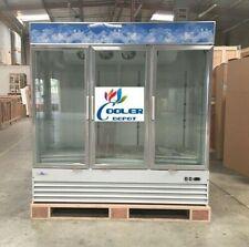 New Commercial Three Glass Door Freezer Ice3 Door Merchandiser Frozen Nsf Etl