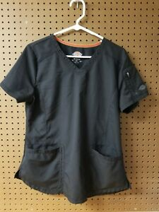 Dickies Medical Scrub Top, Color Black, Size Medium