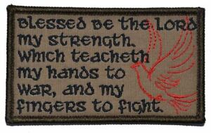 Psalm 144 Bible - 2.25x3.5 Military//Police Patch Hook Backing