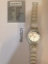 """OROLOGIO SWATCH """"JELLY IN JELLY"""" -WHITE FEELINGS- REF. SUJW101  -NUOVO"""