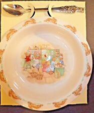 Royal Doulton Bunnykins Nursery Set Two Piece Baby Plate and Spoon New