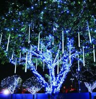 30cm Party LED Lights Meteor Shower Rain Garden Xmas Snowfall Tree Outdoor Light