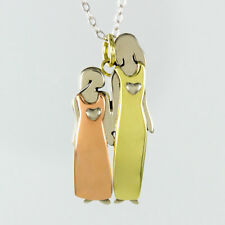 Far Fetched Mother Daughter NECKLACE Sisters Grandmother Family - Gift Wrap Box