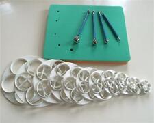 16 SET Foam Pad Veiner Modellierpad Rosen Ausstecher Ball Tools Metall Fondant