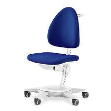 moll Kinderdrehstuhl Maximo Gestell weiß Sitzbezug blau