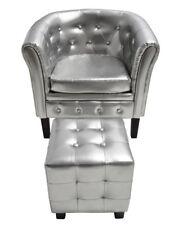 # Edle Chesterfield Edler Sessel Lounge Couch Wohnzimmer mit Sitzhocker Sofa NEU