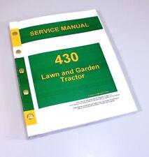 ENGINE SERVICE MANUAL FOR JOHN DEERE 430 LAWN GARDEN TRACTOR REPAIR SHOP BOOK