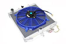92-95 Honda Civic EG EJ EH 2/3/4 DR Aluminum Radiator M/T + Blue Fan SOHC DOHC