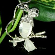 w Swarovski Crystal PARROT psittacines Macaw COCKATIEL bird Pendant Necklace New