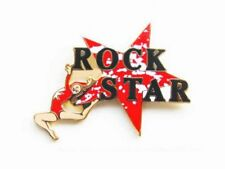 Rock Star Gymnastics Lapel Pin - Bold New Cutout Design