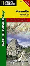 National Geographic Trails Illustrated California Yosemite National Park Map 206