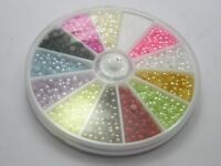 1500 Mixed Color Half Pearl Bead 3mm Flat Back with Wheel 12 Colour