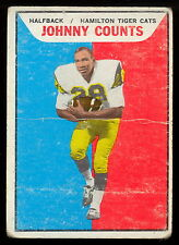 1965 TOPPS CFL FOOTBALL 49 JOHNNY COUNTS HAMILTON TIGER CATS N Y GIANTS ILLINOIS